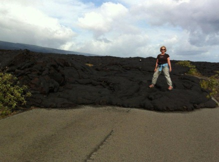 Trish on Lava Flow