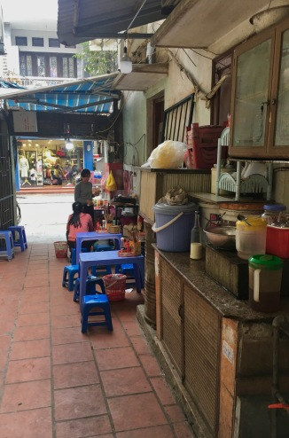 The street food stand
