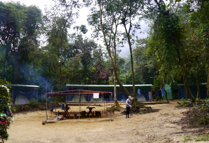 View of camp from the Nam River
