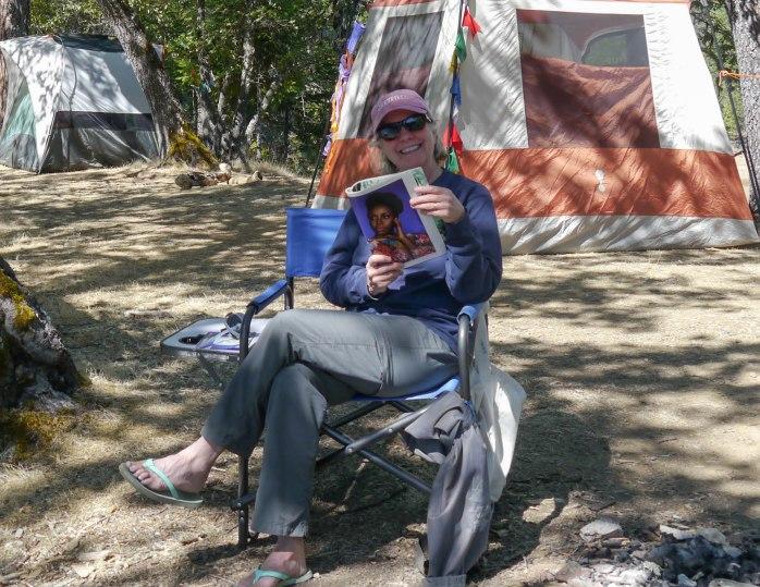 Trish reading
